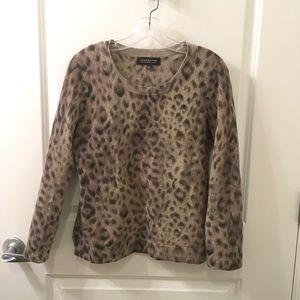 Jones New York    Leopard Cashmere Sweater M